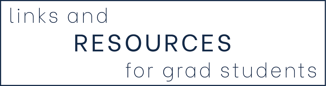 links and resources for graduate students